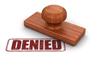 Credit application denied picture